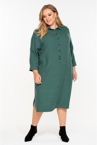 Платье- рубашка ВЕРИДАН цвет зеленый