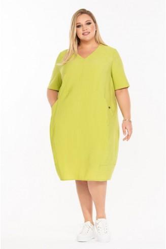 Платье ЯБЛОКО цвет салатовый
