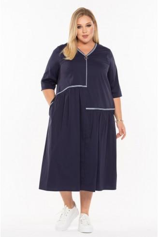 Платье ШАМПАНЬ цвет темно-синий