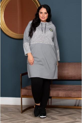 Платье ТУМАН цвет серый
