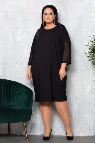 Платье ИГРА цвет черный с принтом
